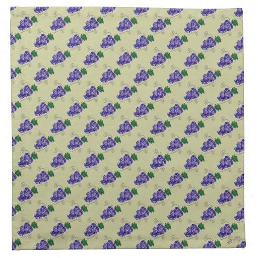 Uvas banales (sabio) servilletas de papel