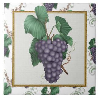 Uvas cocina del dibujo animado o teja del restaura
