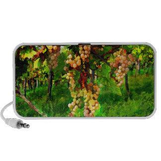 Uvas colgantes en las vides iPod altavoz