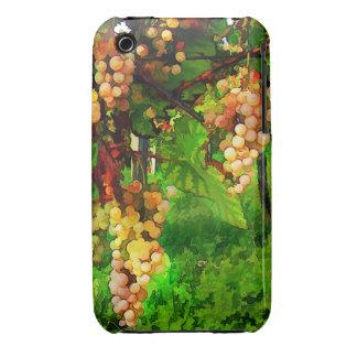Uvas colgantes en las vides carcasa para iPhone 3