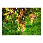 Uvas colgantes en las vides invitación 12,7 x 17,8 cm