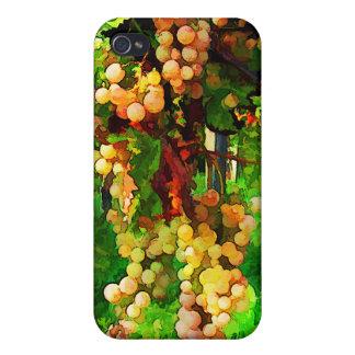 Uvas colgantes en las vides iPhone 4 fundas