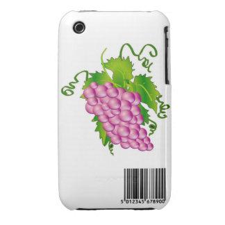 Uvas con el caso de la clave de barras iPhone 3 protectores