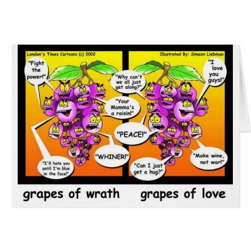 Uvas de la cólera, del amor, y de los regalos y de felicitación