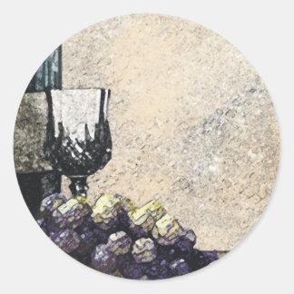 uvas de la copa de vino que empaquetan la etiqueta