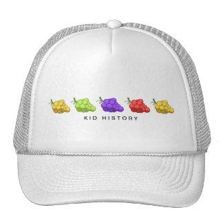 Uvas de la historia del niño gorras