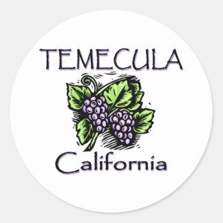 Uvas de Temecula Pegatina