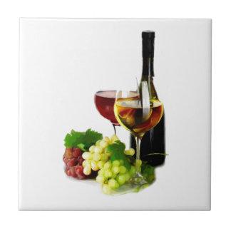 Uvas de vino azulejos