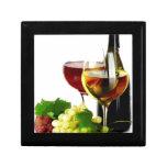 Uvas de vino caja de recuerdo