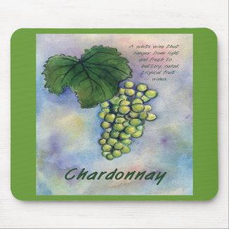 Uvas de vino de Chardonnay y descripción Mousepad