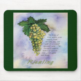 Uvas de vino de Riesling Mousepad