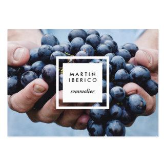 Uvas de vino Sommelier o tarjetas de visita del
