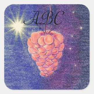 Uvas del equinoccio del otoño pegatina cuadrada