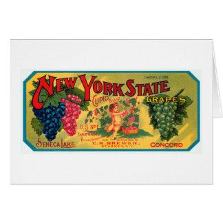 Uvas del Estado de Nuevo York Tarjeta