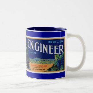 Uvas del ingeniero locomotor tazas