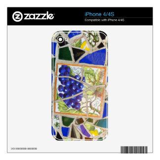 Uvas del mosaico calcomanías para el iPhone 4