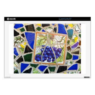 Uvas del mosaico calcomanías para portátiles