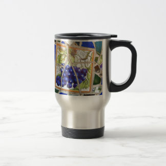 Uvas del mosaico taza térmica