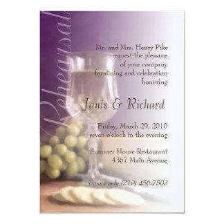 Uvas del queso del vino de la invitación de la