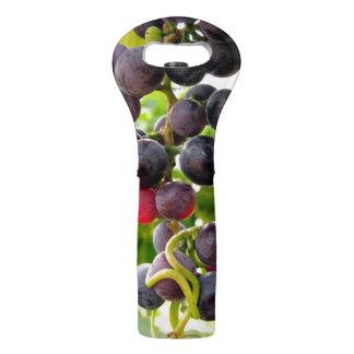 Uvas del tote del vino de la cólera de Suzy 2,0 Bolsas Para Botella De Vino