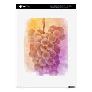 Uvas del vintage del color de agua iPad 3 pegatinas skins