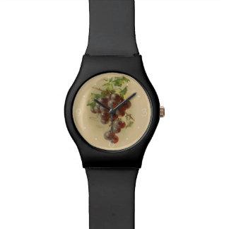 Uvas del vintage reloj de mano