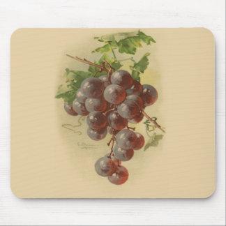 Uvas del vintage alfombrilla de raton