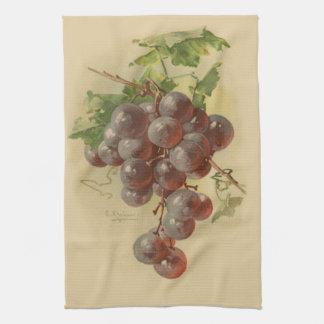 Uvas del vintage toallas de cocina