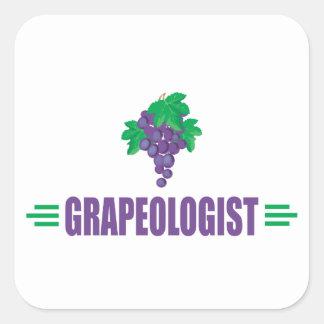 Uvas divertidas calcomanía cuadradas personalizada