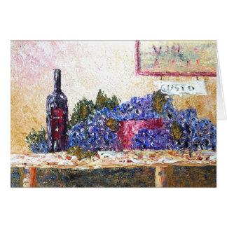 Uvas en el amor secular tarjeta de felicitación
