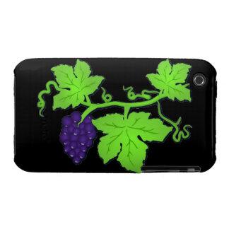 Uvas en el caso de la vid carcasa para iPhone 3