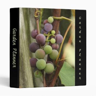 Uvas en el planificador del jardín de la vid