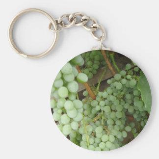 Uvas en la vid llavero redondo tipo pin