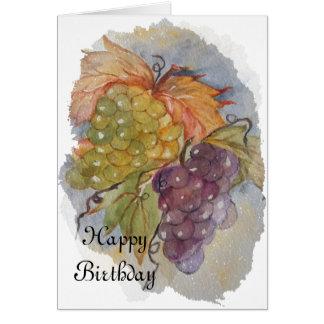 UVAS - feliz cumpleaños Tarjeta De Felicitación