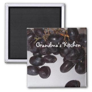 uvas, la cocina de la abuela imán para frigorífico