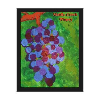 Uvas maduradas vid impresiones en lona estiradas