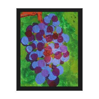 Uvas maduradas vid impresión en lienzo estirada
