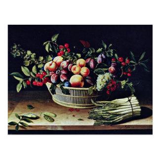Uvas, manzanas y melones de Moillon Louise (mejor Tarjetas Postales