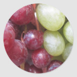 Uvas mezcladas pegatina redonda