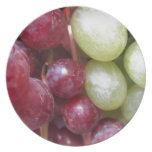Uvas mezcladas plato de cena