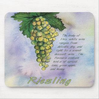 Uvas Mousepad del vino blanco de Riesling