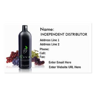 Uvas negras de Viva - tarjeta de visita