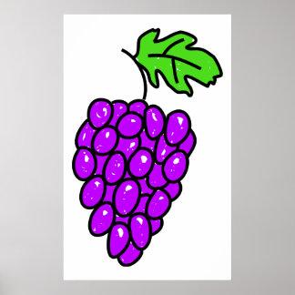 Uvas Póster