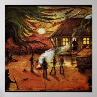 """""""Uvas poster de Steinbeck de la cólera"""""""