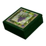 Uvas púrpuras caja de recuerdo