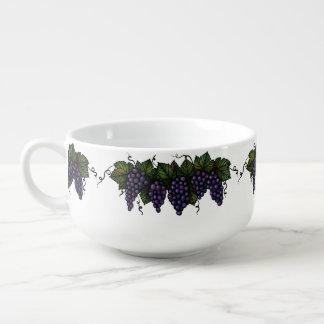Uvas púrpuras, cuenco para sopa, cuenco de cereal, tazón para sopa