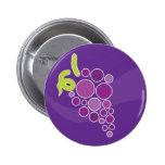 Uvas púrpuras pin