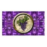 Uvas púrpuras tarjetas de visita