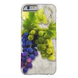 Uvas púrpuras y verdes