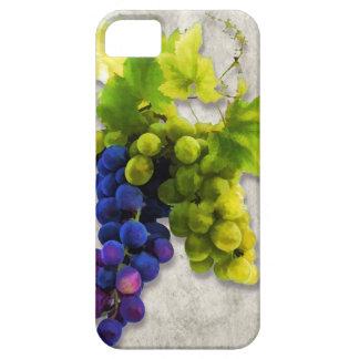 Uvas púrpuras y verdes iPhone 5 fundas